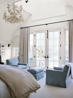 In my future master bedroom I would love both french doors and a chandellier ...