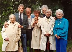At Stephanie's house 1988 (After Gertrud's funeral) L-R: Agnes, Dick, Eric, June, Anna, Greta, Olga.