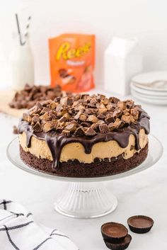 Reese's Peanut Butter Cheesecake, Peanut Butter Desserts, Peanut Butter Brownies, Peanut Butter Cups, Creamy Peanut Butter, Summer Cheesecake, Cheesecake Cake, Cheesecake Recipes, Summer Desserts