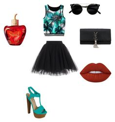 """""""Bez naslova #13"""" by ali-sifet-r ❤ liked on Polyvore featuring Yves Saint Laurent, Lime Crime and Lolita Lempicka"""