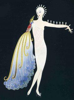 """Diva I"" by Erté (Romain de Tirtoff), Russian-born French artist. (1892 – 1990)"