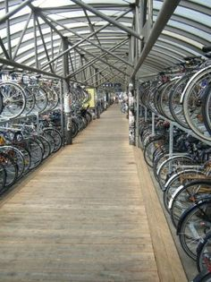 You can park your bicycle, in many places in Denmark...