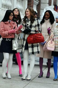 Blair Waldorf Fashion: 2x16 You've Got Yale (Milly check coat and YSL pumps)    http://pinterest.com/treypeezy  http://twitter.com/TreyPeezy  http://instagram.com/treypeezydot  http://OceanviewBLVD.com