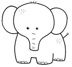 Elephant Coloring Pages Art Drawings For Kids, Drawing For Kids, Animal Drawings, Easy Drawings, Art For Kids, Applique Templates, Applique Patterns, Quilt Patterns, Animal Coloring Pages