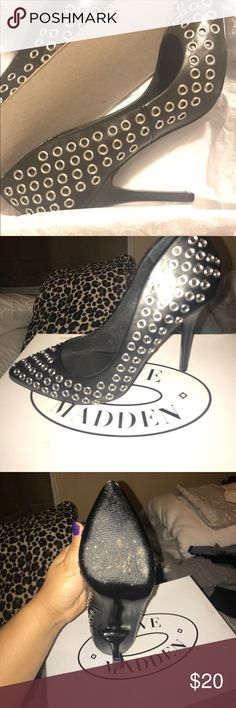 Steve Madden Grommit Black 7.5 Wore once..spring cleaning they come in the box Steve Madden Shoes Heels
