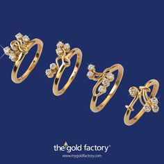 Cute curly-wurly diamond rings in 18K hallmarked gold at unbelievable prices. Buy one quickly before they sell out ! Remember, we're celebrating the Month of Love till the end of February and time's running fast.