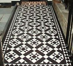 Love the geometric shapes! http://periodtiles.co.uk/victorian-floor-tiles/carron