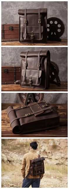d727bb3d36 Original Design Handmade Top Grain Leather Backpack Travelling Backpack  Laptop Backpack MG33 ----