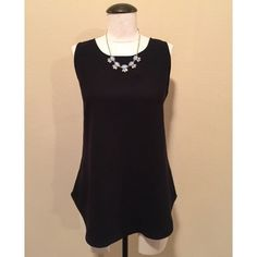 Sleeveless Tunic (Black) Blouse sz S NWOT Sleeveless Tunic (Black) Blouse sz S NWOT by Ann Taylor▪️It's a size S but could fit a size M also. The necklace is NOT included, sold separately.                                                                     NO TRADES PAYPAL Ann Taylor Tops