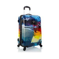 """Heys Cruise Luggage 26"""" Suitcase Fashion Hardcase Patterned Spinner TSA"""