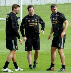 #Scousers Gerrard, Fowler, and Carragher