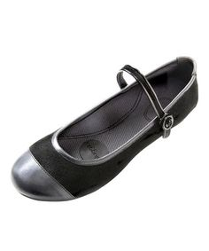 10bfd5155 Black Rhea Mary Jane by pluggz on #zulily today! Sock Shoes, Black Suede