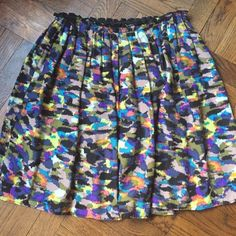 """Anthropologie Corey Lynn Calter skirt Fully lined and 100% silk. Gathered waist. Perfect with a striped tee, button down or moto jacket. Great year round. Worn just twice and in perfect condition. 19.25""""L Anthropologie Skirts Mini"""