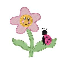 Flower and Ladybug Applique - 2 Sizes! | Spring | Machine Embroidery Designs | SWAKembroidery.com Applique for Kids