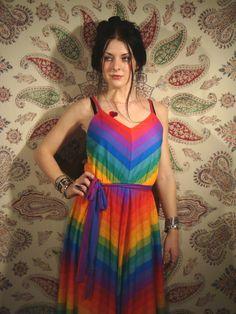 rainbow dress via Etsy.