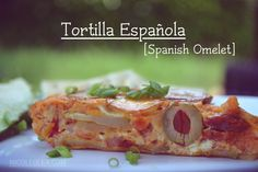 Tortilla Española or Spanish omelet is delicious at breakfast, lunch, or even dinner and is a staple in Spanish and Cuban cuisine.