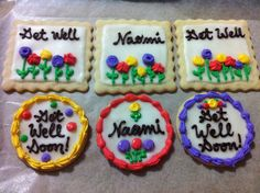 Get well cookies! #decoratedcookies #royalicing #getwellcookies