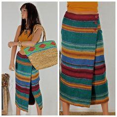Boho maxi skirt sze 7 / 8 southwestern wrap by EleanorFayesFashion