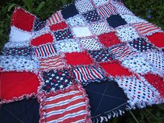 Patriotic Rag Quilt for Marine and his family by Julie Antinucci, via Flickr