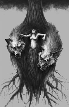 Badass concept. The siren and her wolves.