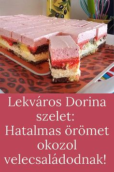 Hungarian Desserts, Soul Food, Goodies, Sweets, Cakes, Board, Sweet Like Candy, Gummi Candy, Gummi Candy