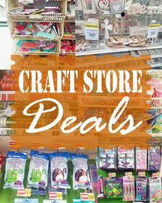 Check out all of the fantastic clearance deals in this week's Craft Store Deals!