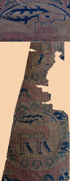 Persian/ Sassanid Dynasty 224-651ad. The nobility of the elk is captured in this ancient textile
