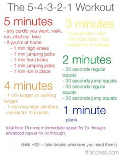 Quick 15 minute work out. Getting off Pinterest and doing this now.