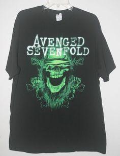 Avenged Sevenfold Concert T Shirt 2011 Buried Alive Tour A7x Black XL  #AvengedSevenfold #GraphicTee