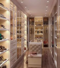 64 Ideas luxury closet design modern for 2019 Walk In Closet Design, Bedroom Closet Design, Master Bedroom Closet, Closet Designs, Bedroom Decor, Closet Rooms, Luxury Bedroom Design, Bedroom Wardrobe, Master Bedrooms