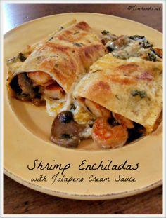 Shrimp Enchiladas with Jalapeno Cream Sauce at Jam Hands