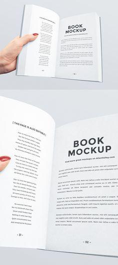 Free Open Book Mockup | alienvalley.com | #free #photoshop #mockup