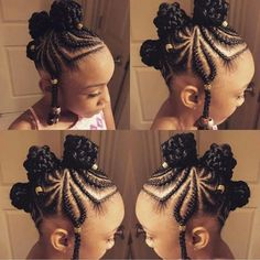 Awesome Braided Hairstyles For Little Girls - Loud In Naija - Awesome Braided Hairstyles For Little Girls – Loud In Naija 10 Easy Braids Hairstyles for Little Girls Little Girl Braids, Black Girl Braids, Braids For Kids, Braids For Black Hair, Girls Braids, Braids Easy, Kids Braids With Beads, Toddler Braids, Kid Braids