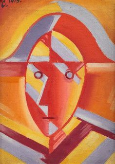 Josef  Čapek  1887-1945  Hlava (s napoleonským kloboukem), 1915 Pierrot, Georges Braque, Writers And Poets, Constructivism, Art Gallery, Paintings, Graphics, Artists, Art