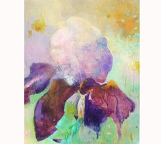IRIS  Original  Abstract Painting on stretched by Paulina722