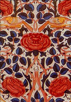 William Morris Rose fabric 1883
