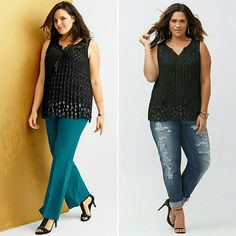 Lane Bryant Clip Dot Top Pleated swing shell top with tasseled front tie at the neck. Very flattering! Lane Bryant Tops