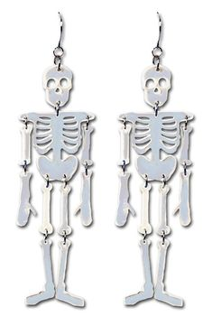 Adult Womens Plastic Reflective Skeleton Earrings Halloween Costume Accessories for this Halloween Eve. Shop now till stock last. Halloween Costume Accessories, Easy Halloween Costumes, Halloween Eve, Funny Halloween, Buy Costumes, Costume Hats, Skull Stencil, Morris Costumes, Metal Skull
