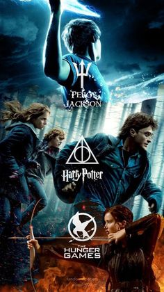 Multi fandom Wallpaper (Percy Jackson, Harry Potter and The Hunger Games)>>>this is my life y'all Harry Potter Pictures, Harry Potter Memes, Dibujos Percy Jackson, Tribute Von Panem, Citations Film, Fandom Quotes, Narnia, Fandom Crossover, Book Memes
