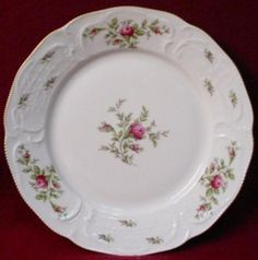 Rosenthal China Sanssouci Rose Ivory Gold Pattern Salad Plate | eBay