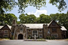 Modeled after an English castle, this 32,000 square foot, 66-room mansion has a dungeon in the basement. It's hard to believe it's located in New Jersey. (Credit: Natalie Keyssar for The Wall Street Journal)