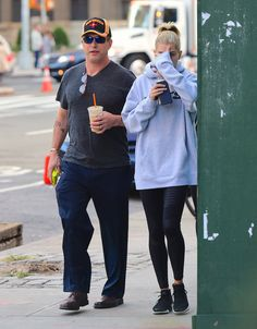 October 11: [HQs] Hailey and her father, Stephen Baldwin out and about in Soho
