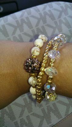Beaded bracelet by me! I love it <3