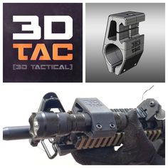 3D printed 3DTAC - Airsoft Tactical Torch / Lamp Mount, 3DNG
