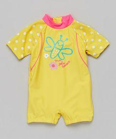 Look at this #zulilyfind! Aspen Gold Butterfly Rashguard - Infant & Toddler #zulilyfinds