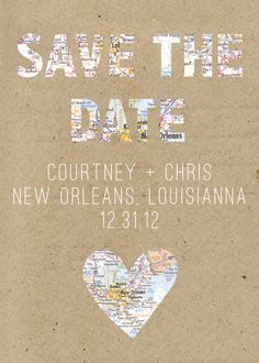Destination Save the Date. $40.00, via Etsy.