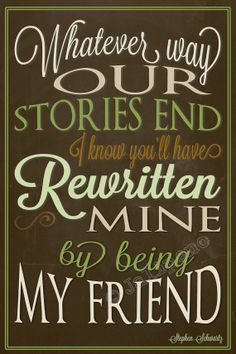 """Wicked Quote 4x6 - You Have Rewritten Mine """"For Good"""" INSTANT DOWNLOAD Printable Farewell Graduation Moving Friendship Friend Gift Wall Art"""