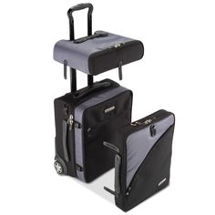 The Detachable Carry On Bag - the only full-sized carry-on bag that separates into three smaller bags for easy access to a laptop and other business needs.
