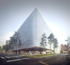 3D Visualization – Daegu Library | 3D Visualization Studio | Merêces | Arch & Design 3D Visualizations