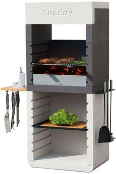 Barbecue Design 2020 – Can you use normal bricks for a BBQ - Home Ideas Barbecue Grill, Design Barbecue, Grill Design, Grilling, Design Design, Parrilla Exterior, Bbq Stand, Brick Bbq, Home Building Design